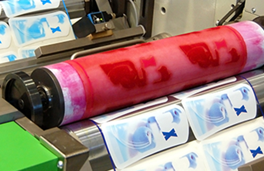 Flexographic process label printing