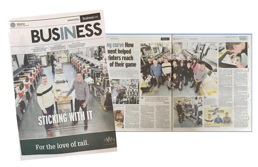 front page of the Bristol Post Business